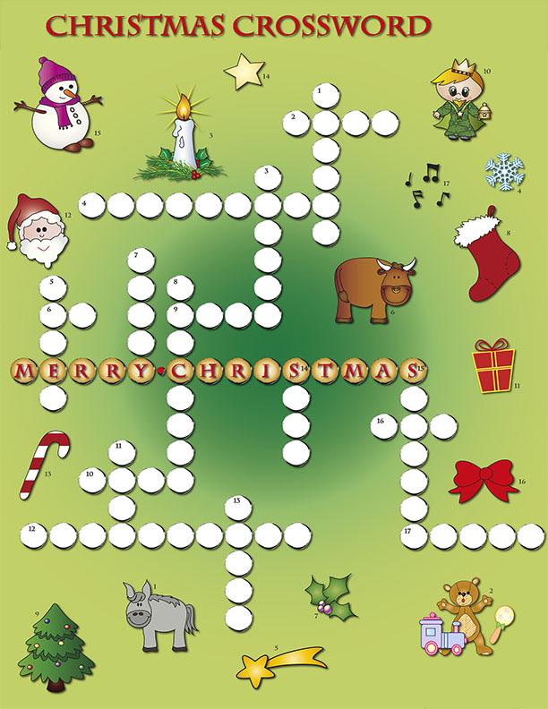 Christmas crossward puzzle santa fun and games