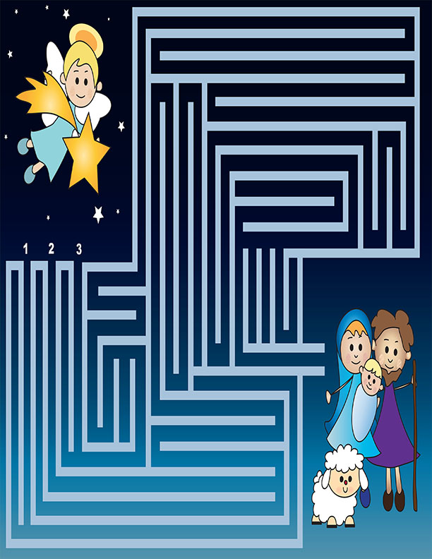 Holiday maze for kids santa fun and games